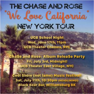 Chase and Rose California Pop Songs